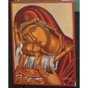 """Αγιογραφία σε ξύλο - """"Παναγία Βρεφοκρατούσα"""""""