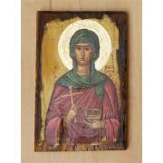 """Αγιογραφία σε ξύλο - """" αγία Παρασκευή"""""""
