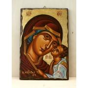 Αγιογραφία σε ξύλο - Παναγία η βρεφοκρατούσα
