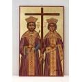 Αγιογραφία σε ξύλο - Άγιος Κωνσταντίνος και Ελένη