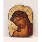 Αγιογραφία σε φυσικό ξύλο - Χριστός