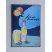 Ξύλινο καδράκι - Παλιά διαφήμιση Ήβη Α3