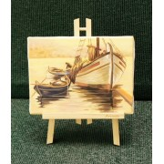 Ζωγραφική σε καμβά με τρίποδο